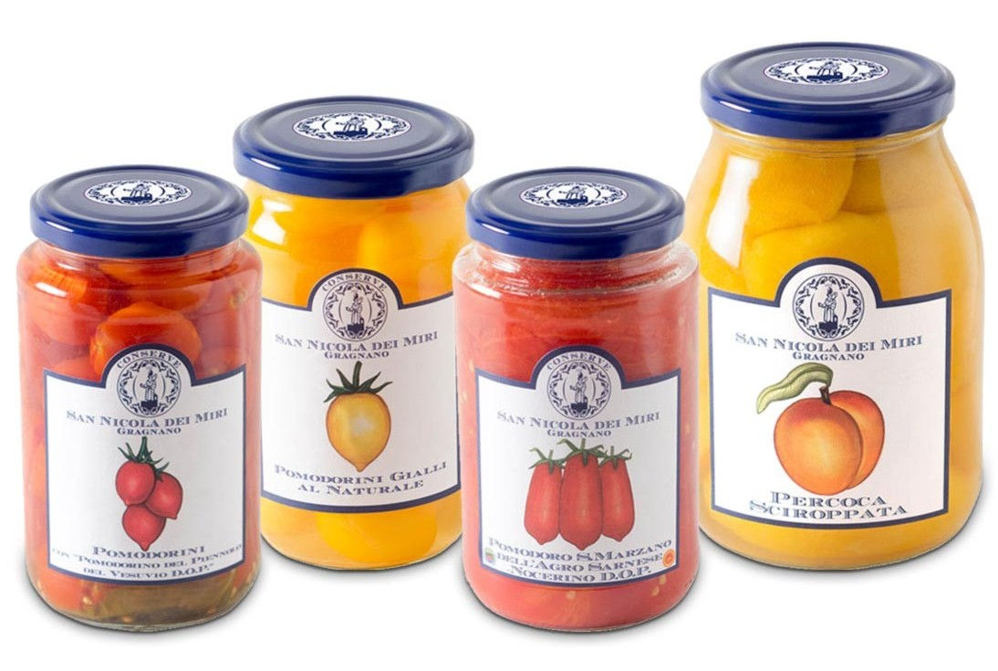jars of San Nicola dei Miri Tomatoes & Marmalades